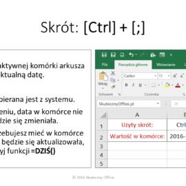 Skróty klawiaturowe Excel